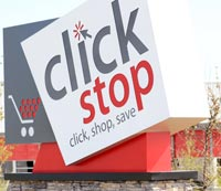 Clickstop, Inc. Entrance Sign