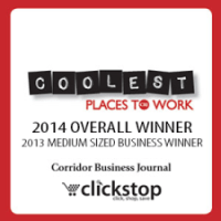Overall Winner - The Coolest Place To Work in the Corridor