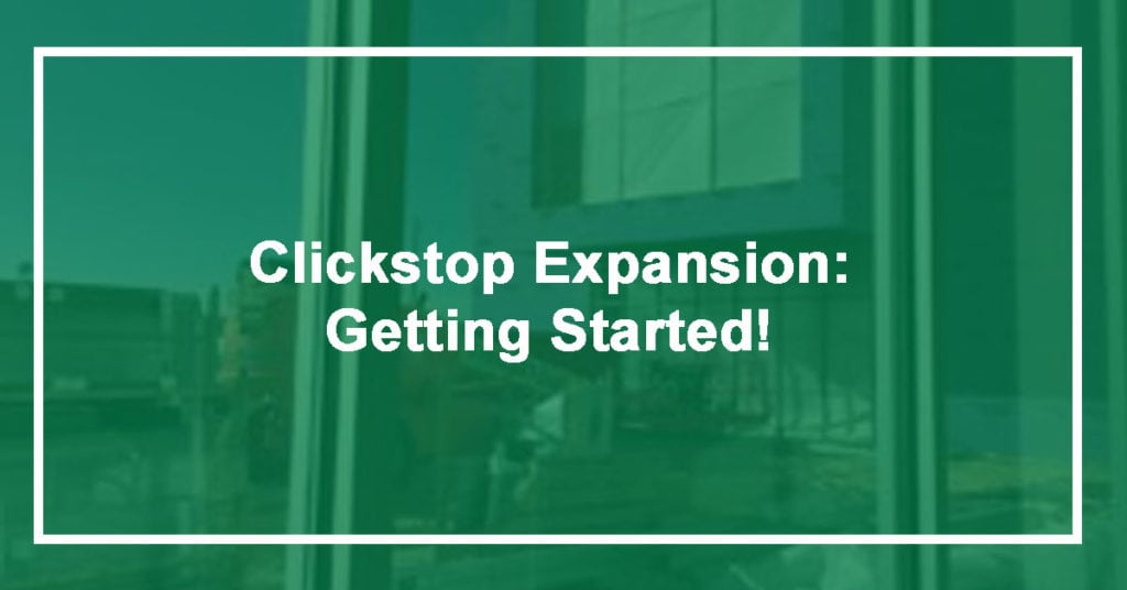 Check out our Clickstop Building Update!