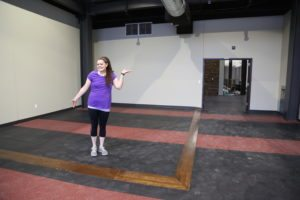 Amber in the new gym, slated to open in the next month or so!