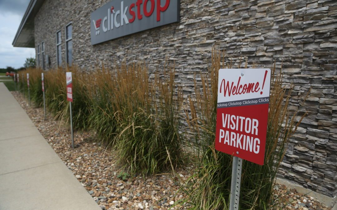 New Clickstop Parking Lot Signage is Going Up!