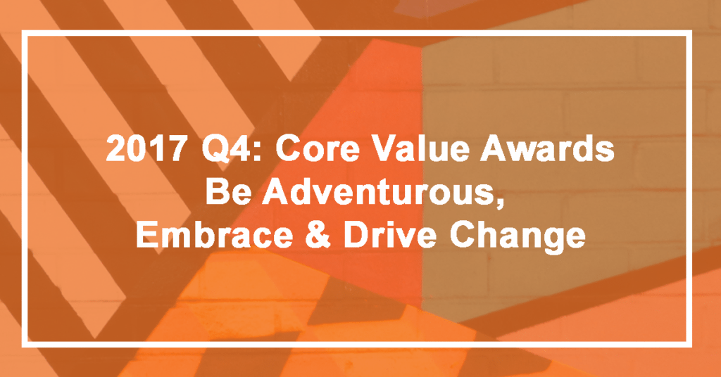 Q4 Be Adventurous, Embrace and Drive Change Winner: Mike Rosenberger