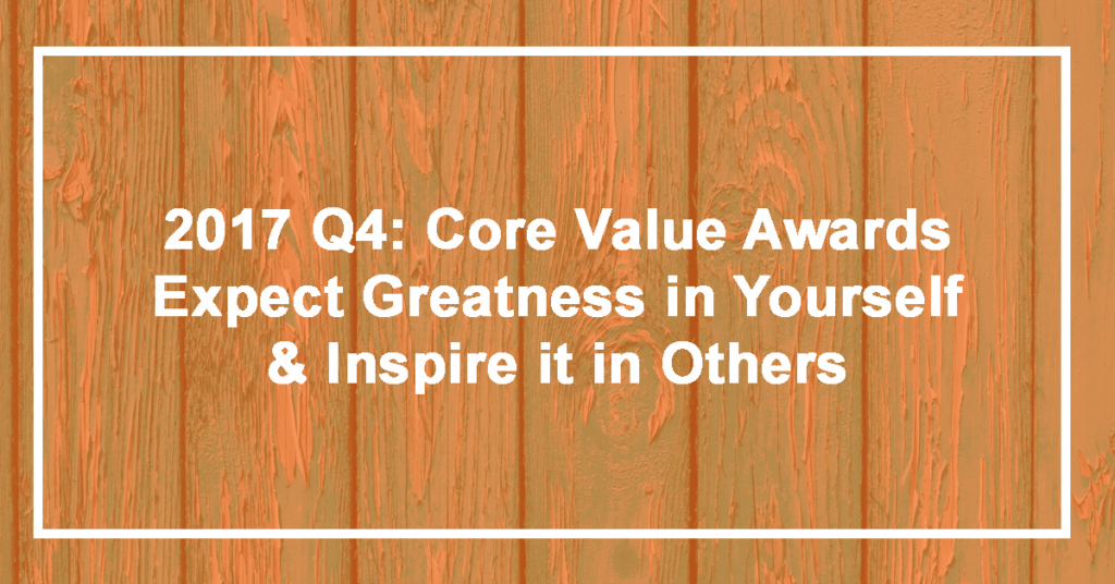 Q4 Expect Greatness in Yourself and Inspire it in Others Winner: Derek McLaughlin