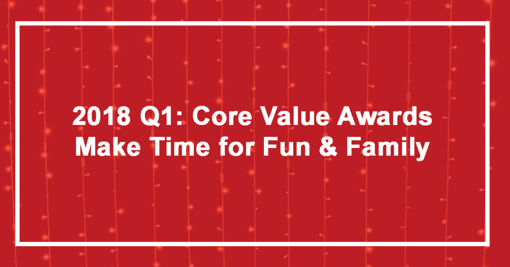 Q1 Make Time for Fun and Family Winner: Lacy Curtis!