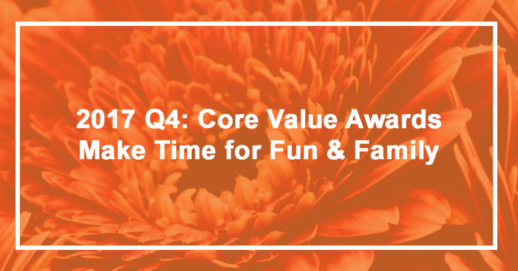 Q4 Make Time for Fun and Family Winner: Brennan Melloy
