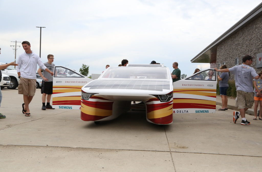 The ISU Solar Car Stops at Clickstop!